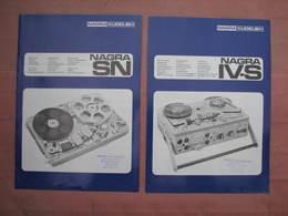 Magétophone NAGRA 38 Pages Documentation. Comme Neuf. - Ciencia & Tecnología