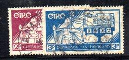 APR1637 - IRLANDA 1937 , Unificato N. 71/72  Usato  (2380A) - 1937-1949 Éire