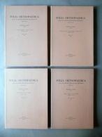 Folia Orthopaedica Zanoli Istituto Rizzoli Bologna 1961 Serie 3° 6° 4 Cartelle - Vecchi Documenti