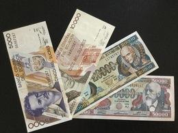 ECUADOR SET 5000 10000 20000 50000 SUCRES BANKNOTES 1999 UNC - Ecuador