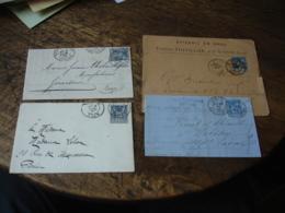 Lot De 32 Lettre Timbre Sage Obliteration  Cachet Type 84 Cachet A Date - Postmark Collection (Covers)