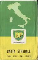 Gasoline Benzina BP  Carta Stardale D'Italia  Anni '50 - Carte Stradali