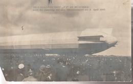 Zeppelin  1909  Z 1 Nach Landung  Oberwiesenfeld, U.li. Fehlt Ecke - Dirigeables