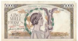 FRANCE  5'000 Francs  P97c   Dated  4.12.1941 - 1871-1952 Frühe Francs Des 20. Jh.