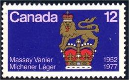 (C07-35c) Canada Vanier Lion MNH ** Neuf SC - Big Cats (cats Of Prey)