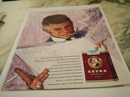 ANCIENNE PUBLICITE VOICI CIGARETTE ASTOR AMERICAN BLEND 1963 - Tabac (objets Liés)