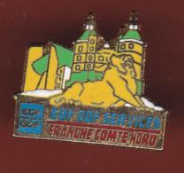 59415-Pin's.EDF GDF.franche Comté.Nord.lion De Belfort - EDF GDF