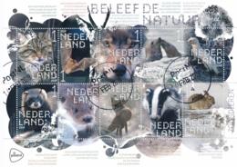 Nederland - 2019 - Velletje Beleef De Natuur - Zoogdieren - Echt Gebruikt - 2013-... (Willem-Alexander)