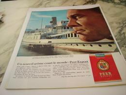 ANCIENNE PUBLICITE A GENEVE NOUVEL AROME CIGARETTE PEER EXPORT 1963 - Tabac (objets Liés)