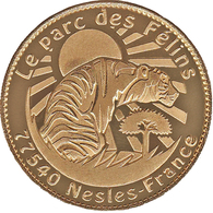 77 NESLES PARC DES FÉLINS LE TIGRE MÉDAILLE ARTHUS BERTRAND 2008 JETON MEDALS TOKENS COINS - Arthus Bertrand
