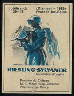Etiquette De Vin // Riesling-Sylvaner, Jubilé De La Mob 1939-1945 - Militaire