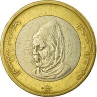 Monnaie, Maroc, Al-Hassan II, 10 Dirhams, 1995, Paris, TB+, Bi-Metallic, KM:92 - Marruecos