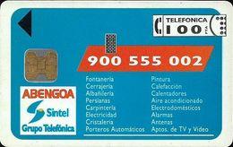 Spain - Telefónica - Servicios Abengoa - P-004 - 07.1992, 100PTA, 6.000ex, Used - Emissions Privées