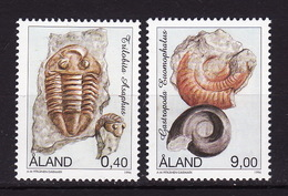 Åland, 1996, Archeology, Fossil, 2 Stamps - Aland
