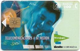 Spain - Telefónica - El Corte Ingles - P-142 - 08.1995, 6.100ex, Used - España