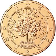 Autriche, 5 Euro Cent, 2010, FDC, Copper Plated Steel, KM:3084 - Autriche