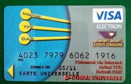 Carte Visa Electron Poste Tunisienne - Tunisia