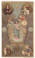 NOTRE DAME DES 3 AVE MARIA ANTOINE DE PADOUE STE MECHTILDIS IMAGE PIEUSE RELIGIEUSE HOLY CARD SANTINI HEILIG PRENTJE - Imágenes Religiosas