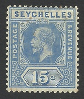 Seychelles, 15 C, 1917, Sc # 79, MH - Seychelles (...-1976)