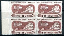 Australia 1954 Australian Railways Centenary Block MNH (SG 278) - Nuovi