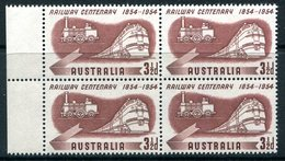 Australia 1954 Australian Railways Centenary Block MNH (SG 278) - Mint Stamps