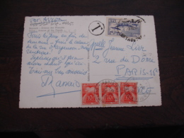 Lettre Taxee  3 Timbre Gerbes Gerbes 10 F Timbre Taxe - Postage Due Covers