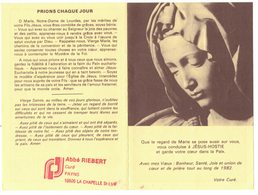 PAYNS LA CHAPELLE ST LUC ABBE RIEBERT SOUVENIR CALENDRIER ALMANACH 1982 IMAGE PIEUSE HOLY CARD SANTINI HEILIG PRENTJE - Calendriers