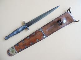 Dague Fairbairn & Sykes 3th Pattern, Originale GB WW2 Avec Fourreau US. - Armes Blanches