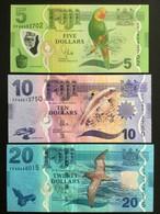 FIJI SET 5 10 20 DOLLARS BANKNOTES (2012) UNC - Fiji