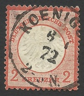 Germany, 2 Kr. 1872, Sc # 8a, Mi # 8, Used, Koenigsberg - Allemagne
