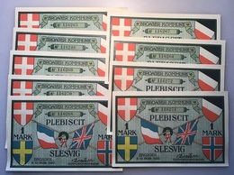 Notgeld BROAGER KOMMUNE PLEBISCIT SLESVIG 1920 1Mark X9(banknote Broacker Denmark Danmark Dänemark Schleswig Deutschland - Denmark