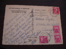 Lettre Taxee 3 Timbre Gerbe Gerbes  5 F Timbre Taxe - Postage Due Covers