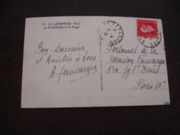 Timbre Marianne Dulac 2 F 40 Seul Sur Lettre 1946 - Postmark Collection (Covers)