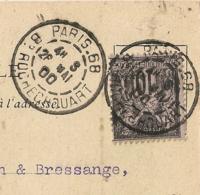 CP Maxime CLAIR PARIS.68 Bd ROCHECHOUART Bloc Horaire Sur SAGE Pour MENTON. - Marcophilie (Lettres)