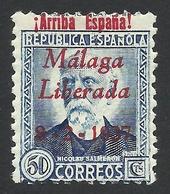 Spain, Malaga 50 C. 1937, Sc # 10L17, Mi # 17, MH - Nationalist Issues