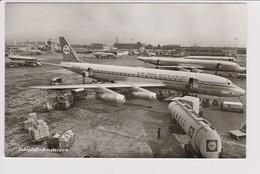 Vintage Rppc KLM K.L.M Royal Dutch Airlines Convair 340 & Viscount Douglas Dc7 Dc-8 @ Schiphol Airport Number E - 1919-1938: Between Wars