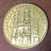 02 LAON CATHÉDRALE NOTRE DAME MONNAIE DE PARIS 2009 JETON MEDALS TOKEN COINS - Monnaie De Paris