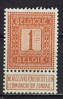 Belgien 1912 // Mi. 89 * - 1912 Pellens