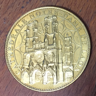 02 LAON CATHÉDRALE NOTRE DAME MÉDAILLE SOUVENIR ARTHUS BERTRAND 2012 JETON TOURISTIQUE MEDALS TOKENS COINS - 2012