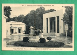 Paris Exposition Des Arts Decoratifs 1925 Pavillon Du Tissu Et Bibliotheque De Reims ( M Et L Sainaulieu Architectes ) ) - Esposizioni