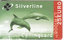 LUXEMBOURG - Dolphins, Dolphin Prepaid Card 25 Euro/LFR 1008.50, Used - Dolphins