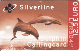 LUXEMBOURG - Dolphins, Dolphin Prepaid Card 12.5 Euro/LFR 504.25, Used - Dolphins