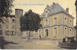 """12 - AUBIN : La CAISSE D'EPARGNE ( Banque ) - Jolie CPA Colorisée """" Vernie """" Et """" Toilée """" - Aveyron - France"""