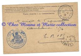 WWI - TAMPON DEPOT D ECLOPES DE RAMBERVILLERS - POUR AMBULANCE 1/74 SP N° 185 - CPA MILITAIRE - Guerre 1914-18