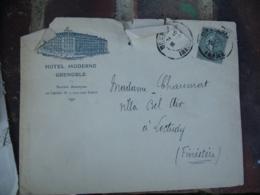 Hotel Moderne Grenoble Enveloppe Commerciale - 1900 – 1949
