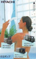 Télécarte Japon * EROTIQUE *   (6540) HITACHI  *  EROTIC PHONECARD JAPAN * TK * BATHCLOTHES * FEMME SEXY LADY LINGERIE - Fashion