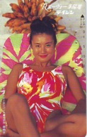 Télécarte Japon * EROTIQUE *   (6544)   *  EROTIC PHONECARD JAPAN * TK * BATHCLOTHES * FEMME SEXY LADY LINGERIE - Fashion