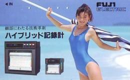 Télécarte Japon * EROTIQUE *   (6547) FUJI  *  EROTIC PHONECARD JAPAN * TK * BATHCLOTHES * FEMME SEXY LADY LINGERIE - Fashion