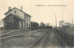 32 LOMBEZ Gare Boulangerie Coopérative     2scans - Frankreich
