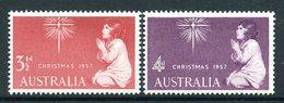 Australia 1957 Christmas Set LHM (SG 298-299) - Mint Stamps